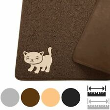 """Cat Litter Mat - Non Slip - Xl 35""""x23.5� - Waterproof - Scratch Proof (Brown)"""