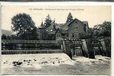 CP 25 Doubs - Ornans - Château et Barrage de l'Usine Olivier