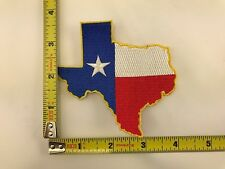 Texas State Flag Patch Texan map iron-on sew-on new lone star state TX