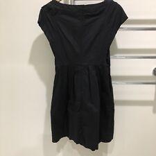 PR Privilege Australia Black Cotton Fit And Flare Dress  Size 8