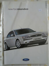 Ford Mondeo range brochure Sep 2000