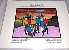 Rare Star Trek Laminated Cel Promo Binder Page Star Trek 73