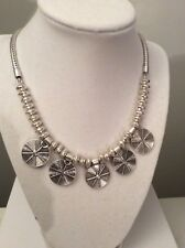 Lucky Brand Silver Tone  tribal medallions  Necklace $34.50 E105 (6)(6)