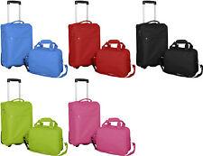 Reisekofferset Reisetasche Nylon Handgepäck Trolley Koffer 2-teilig mit Rollen