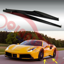 Carbon Fiber Door Body Side Skirts Sport Style For Ferrari 488 GTB 2016-19-Y