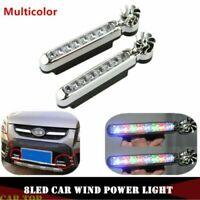 2x Wind Power 8LED Car Daytime Running Light Fog Light Car DRL Driving Light HOT