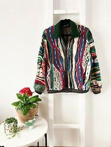 COOGI Australia vintage 90s unisex lined knit jacket cardigan / men S / ladies L