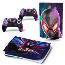 PS5 Disc Edition Skin Decal Sticker -Spiderman Custom Design 25 - FREE P&P