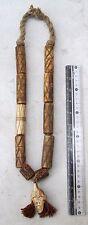 Vintage Nagaland Tribal Shaman Deer Bone Talisman Necklace
