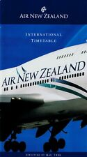 Air New Zealand International Timetable  May 1, 1996 =