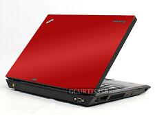 RED Vinyl Lid Skin Cover Decal fits IBM Lenovo Thinkpad T400 Laptop