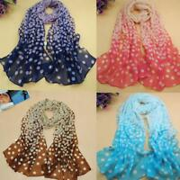 Trendy Perfect Women Circular Point Long Soft Wrap Lady Shawl Silk Chiffon Scarf