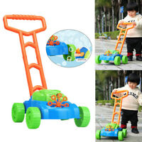 Kids Auto Spillproof Bubble Blowing Lawn Mower Outdoor Garden Toy Christmas Gift