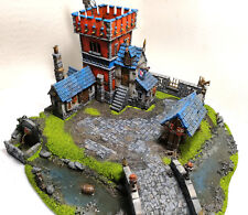 """WARHAMMER WAR GAME SCENERY """" BIG HOUSE FORT VILLAGE"""" AGE OF SIGMAR PRO PAINTED"""