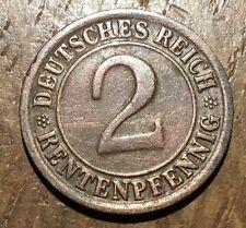 PIECE DE 2 REICHS PFENNIG 1923 F (205)