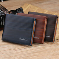Man Luxury Wallet Leather Brand Vintage Short Slim Money Clip Purses Dollar