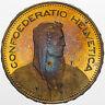1995 SWITZERLAND 5 FRANCS BU UNC VIVID YELLOW BLUE COLORWAY UNIQUE (MR)