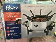 Oster Electric Fondue Pot 3 Quart + Forks NEW!