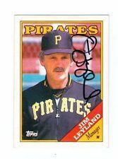 Lot (5) signed Pgh Pirates baseball cards Leyland Gott Reynolds Kramer Hermanson
