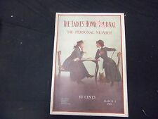 1911 MAR 1 LADIES' HOME JOURNAL MAGAZINE - GREAT ILLUSTRATIONS & ADS - ST 1711