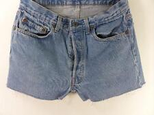 Levi's 501 Vintage Denim Shorts Hotpants Blue cotton size w32 Grade B M342