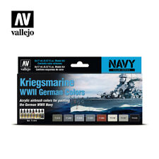 AIRBRUSH PAINTS - VALLEJO MODEL AIR - KRIEGSMARINE WII COLORS (8 x 17ML) - 71616