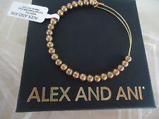 Alex and Ani EUPHRATES Rafaelian Gold Charm Bangle New W/ Tag Card & Box
