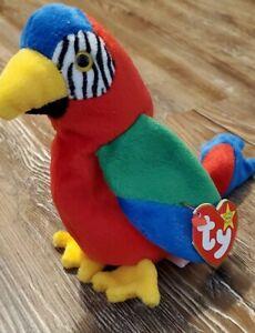 Jabber the Parrot Ty Beanie Baby Rare & Retired 1997/1998