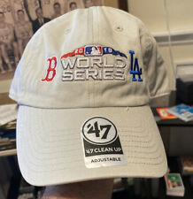Boston Red Sox Los Angeles Dodgers World Series 2018 Adjustable '47 Hat Grey