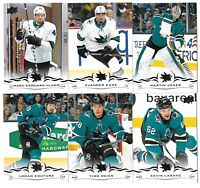 2018-19 Upperdeck Series 2+ Series 1 FULL Team set SAN JOSE SHARKS (13 cards)