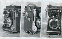 """3 Older Black / White Photo's of Mamiyaflex Camera, 5"""" x 7"""""""