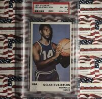 1972 Icee Bear Basketball Oscar Robertson Milwaukee Bucks HOF PSA 8 NM-MT