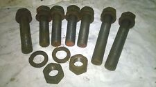 """Nuffield BMC 3.4 Diesel Engine to frame bolts & spring washers 9/16"""" x 1 3/4""""UNF"""