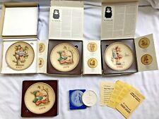 Four Goebel Hummel Annual Plates Plus Collectors' Club Medallion
