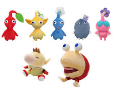 Set of 7 Pikmin Plush: Red Leaf/Blue Flower/Yellow Bud/Rock/Winged/Olimar/Chappy