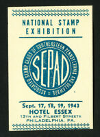 US Stamps 1943 Sepad Exhibition Label