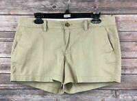 Old Navy Women's Beige Cotton Blend Casual Khaki Shorts Size 8 Inseam 3