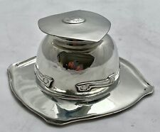 extremely fine liberty & co tudric pewter ink well by archibald knox 0140