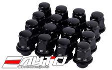 16pc MAG 37mm Black Lug Nut 12x1.5 M12 P1.5 21HEX For Mitsubishi OEM Wheel