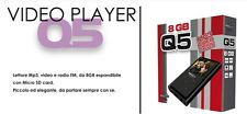 *IDEA REGALO!*ELEGANTE MP3,MP4 VIDEO E RADIOFM,*DISPLAY A COLORI* 8GB ESPANDIBIL