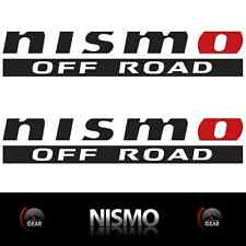 "(2) NISMO OFF ROAD Die Cut Decal Stickers MATTE BLACK and RED 12"" 4X4 Titan Race"