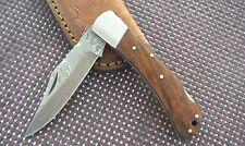 Navaja damastmesser nogal madera plegable cuchillo Folding Knife 19,8 cm nuevo
