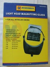 MARKSMAN HEADBAND MAGNIFYING GLASS WITH 4 LENSES, BOXED
