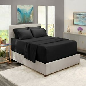 6 Piece 1800 Count Bed Sheet Set Extra Deep Pocket Sheets - 36 Colors Available!