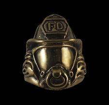 Bronze Fireman Firefighter FD biker Ring Custom size handmade dalmation R-206b