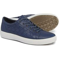 New Men`s ECCO Soft 7 Sneakers Woven Leather  430444 01048