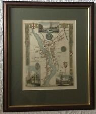 Antique original map of Boston, Lincolnshire, by Thomas Moule, c1840