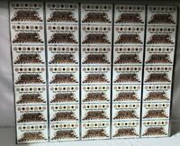 1979 Pittsburgh Steelers Uncut Sheet of 30 Iron City Beer Super Bowl Cans RARE!
