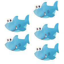 5 Piece Non Slip Bath Tub Stickers Bathroom Mat Shower Room Floor Grip Shark