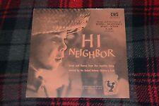 Hi Neighbor~Songs & Dances of Burma, Guatemala, Spain, Sudan~FAST SHIPPING